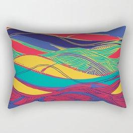 Color Wave Rectangular Pillow
