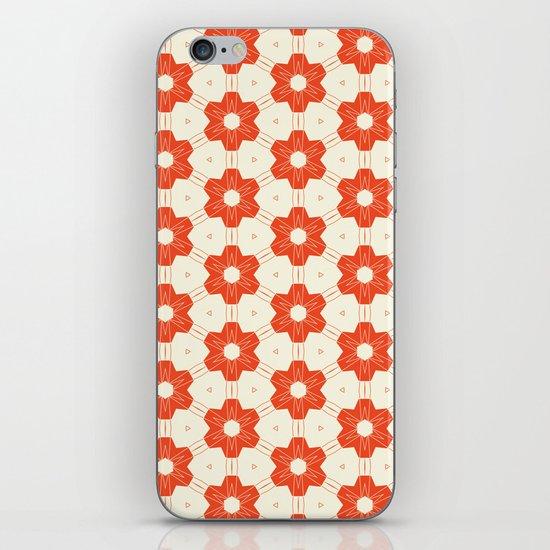 Retro Red Flower iPhone & iPod Skin