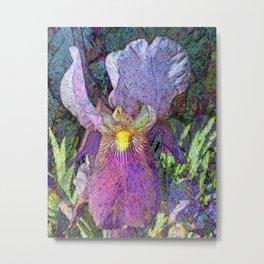 Impressionist Iris Metal Print