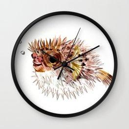 Little cute Fish, Puffer fish, cut fish art, coral aquarium fish Wall Clock