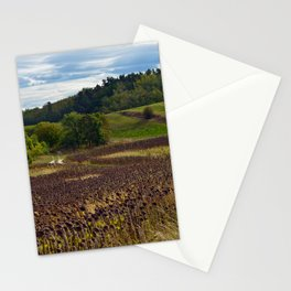 LATE SUMMER SOUND of SUNFLOWERS Stationery Cards