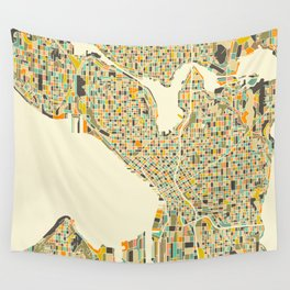 SEATTLE Map Wall Tapestry