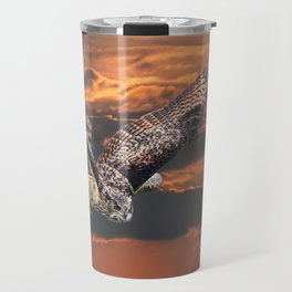 owl at sunset Travel Mug