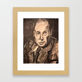 C S Lewis painting Framed Art Print