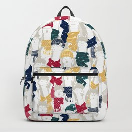 Happy llamas Christmas choir Backpack