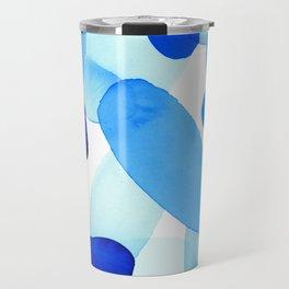Beach Glass Blue Travel Mug