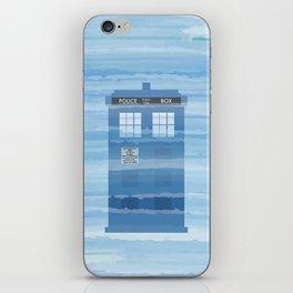 TARDIS Under the Sea - Doctor Who Digital Watercolor iPhone Skin