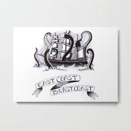East Coast Beast Coast Metal Print