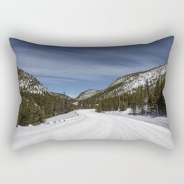 Carol Highsmith - Snow Covered Road Rectangular Pillow