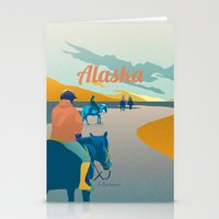 alaska Stationery Cards featuring Alaska by Shirong Gao