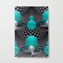 3D - abstraction -113- Metal Print