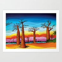 madagascar trees Art Print