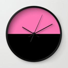 That Pink Dark Black Wall Clock