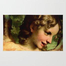 "Antonio Allegri da Correggio ""Madonna of St. Jerome""(detail) Angel Rug"