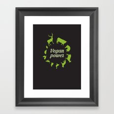 Vegan power Framed Art Print