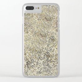 Gold Leaf Crackle Sparkle Clear iPhone Case