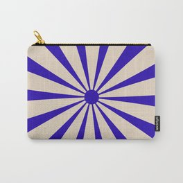 Big Daisy Retro Minimalism Cobalt Blue and Beige Carry-All Pouch