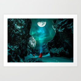 little Red Riding Hood l Caperucita roja Art Print