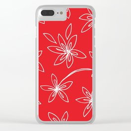 Starry Flowers, Shooting Stars Clear iPhone Case