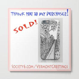 SOLD Road Trip Cell Phone Cover - Thank you! Metal Print