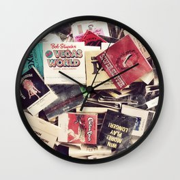 Vintage Matchbook Collection Wall Clock