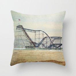 Jet Star Coaster Throw Pillow