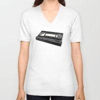 return V-neck T-shirts featuring Return by Gimetzco's Damaged Goods
