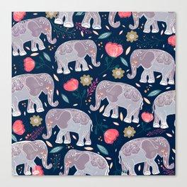 Elephant Souls  Canvas Print