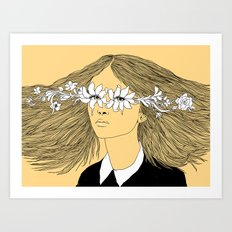 Flowers in My Eyes (Life in a Glimpse) Art Print
