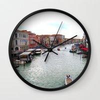 venice Wall Clocks featuring venice. by zenitt