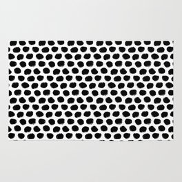 Beehive Black and White Rug