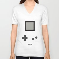 gameboy V-neck T-shirts featuring Gameboy by M. C.Tees