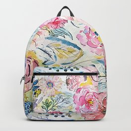 Watercolor hand paint floral design Backpack