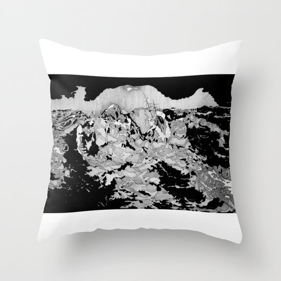 Swallowed By The Sea Throw Pillow