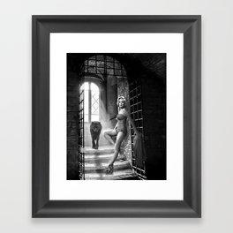 marilyn monroe+Wolf Framed Art Print