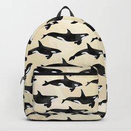 Pod of Orcas in Puget Backpack