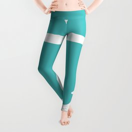 Anchor (White & Teal) Leggings