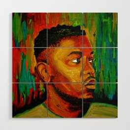 Kendrick Lamar Wood Wall Art
