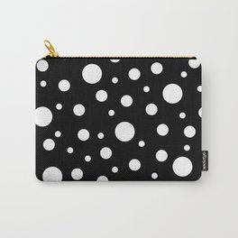 White on Black Polka Dot Pattern Carry-All Pouch