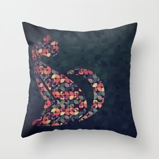 The Pattern Cat Throw Pillow