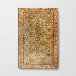 Antique Turkish Oushak Rug Print Metal Print
