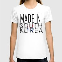 korea T-shirts featuring Made In South Korea by VirgoSpice