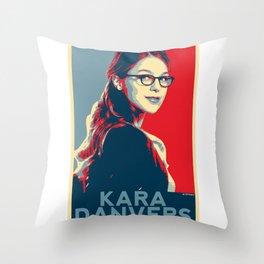 Kara Danvers POP ART Poster Throw Pillow