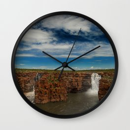 King George Waterfall Wall Clock