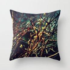 Spring Budding Throw Pillow