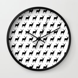 Deer Silhouettes Wall Clock