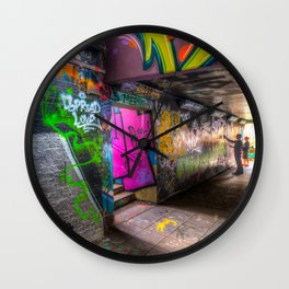 Leake Street London Graffiti  Wall Clock