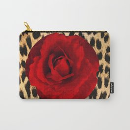 Leopard Rose by Lika Ramati Carry-All Pouch