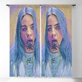 Billie Creepy Artistic Illustration Acid Pointillism Style Blackout Curtain