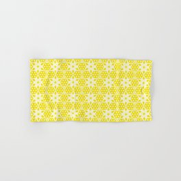 Stars and Hexagons Pattern - Sunburst Hand & Bath Towel